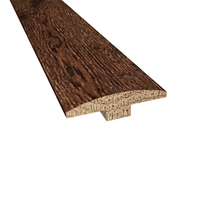 Prefinished Milan White Oak Hardwood 1/4 in thick x 2 in wide x 78 in Length T-Molding