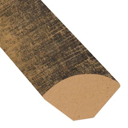 Rail Tie Oak Vinyl 1.075 in wide x 7.5 ft Length Quarter Round