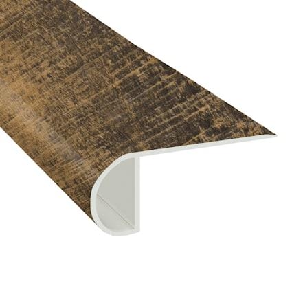 Rail Tie Oak Vinyl Waterproof 2.25 in wide x 7.5 ft Length Low Profile Stair Nose