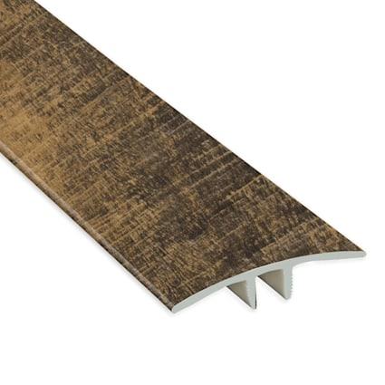 Rail Tie Oak Vinyl Waterproof 1.75 in wide x 7.5 ft Length T-Molding