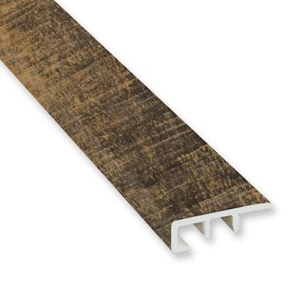 Rail Tie Oak Vinyl Waterproof 1.5 in wide x 7.5 ft Length End Cap