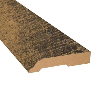 Rail Tie Oak Vinyl 3.25 in wide x 7.5 ft Length Baseboard