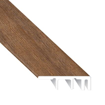 Copper Ridge Chestnut Laminate Waterproof 1.374 in wide x 7.5 ft Length Low Profile End Cap