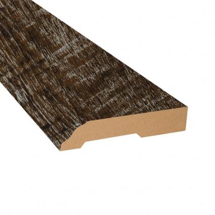Dark Hollow Oak Vinyl Waterproof 3.25 in wide x 7.5 ft Length Baseboard
