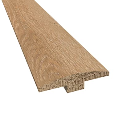 Prefinished Distressed Claire Gardens Oak Hardwood 1/4 in thick x 2 in wide x78 in Length T-Molding