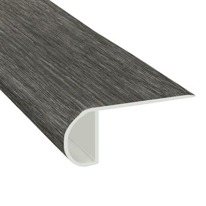 Midnight Oak Laminate Waterproof 2.3 in wide x 7.5 ft Length Low Profile Stair Nose