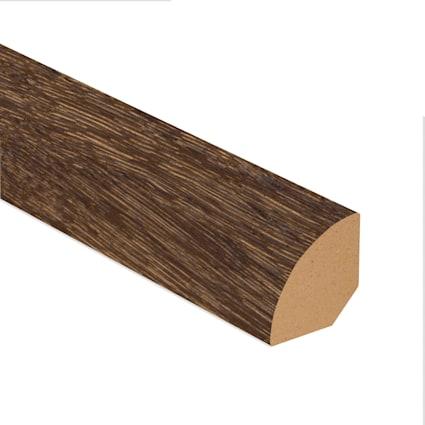 Elusive Brown Oak Laminate 1.075 in wide x 7.5 ft Length Quarter Round