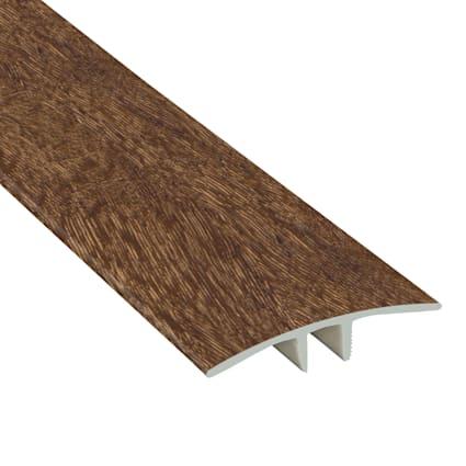 Elusive Brown Oak Laminate Waterproof 1.75 in wide x 7.5 ft Length Low Profile T-Molding