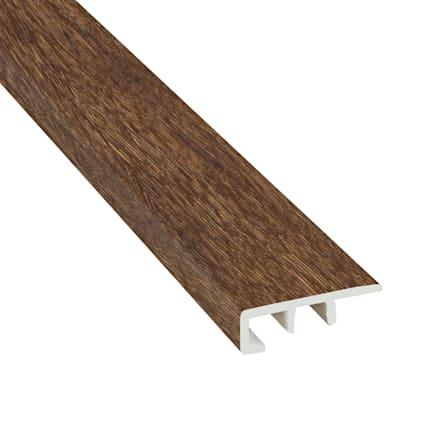 Elusive Brown Oak Laminate Waterproof 1.374 in wide x 7.5 ft Length Low Profile End Cap