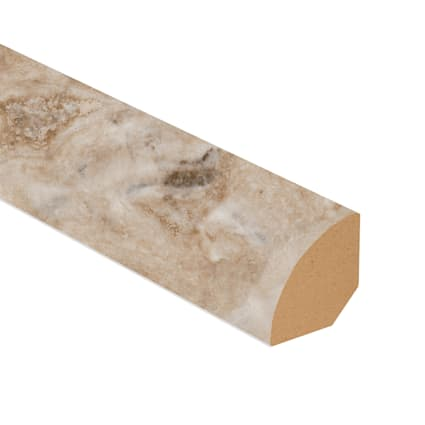 Jove Travertine Vinyl 1.075 in wide x 7.5 ft Length Quarter Round