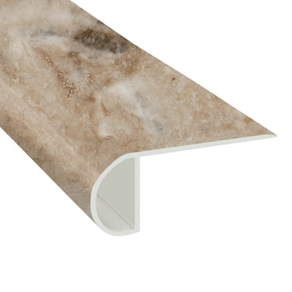 Jove Travertine Vinyl Waterproof 2.25 in wide x 7.5 ft Length Low Profile Stair Nose