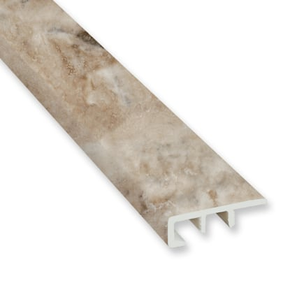 Jove Travertine Vinyl Waterproof 1.5 in wide x 7.5 ft Length End Cap