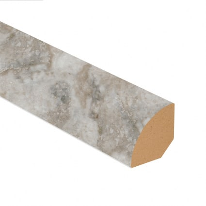 Oyster Shell Travertine Vinyl 0.75 in wide x 7.5 ft length Quarter Round