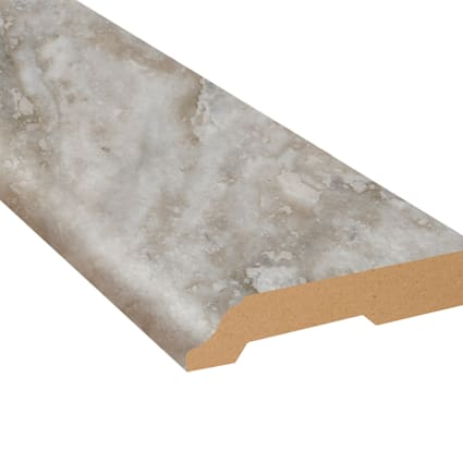 Oyster Shell Travertine Vinyl 3.25 in wide x 7.5 ft Length Baseboard