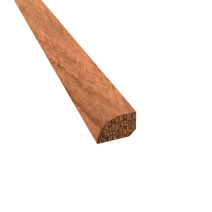 Prefinished Curupay Hardwood 1/2 in thick x .75 in wide x 78 in Length Shoe Molding