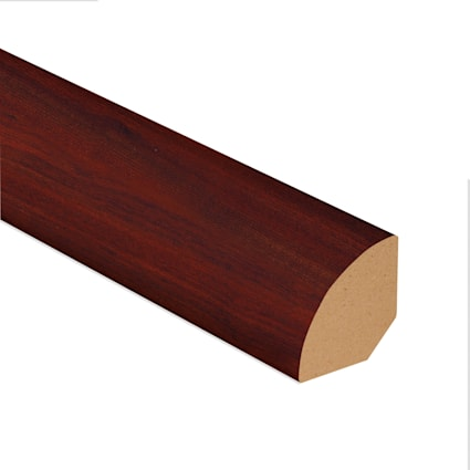 Bloodwood Vinyl 1.075 in wide x 7.5 ft Length Quarter Round