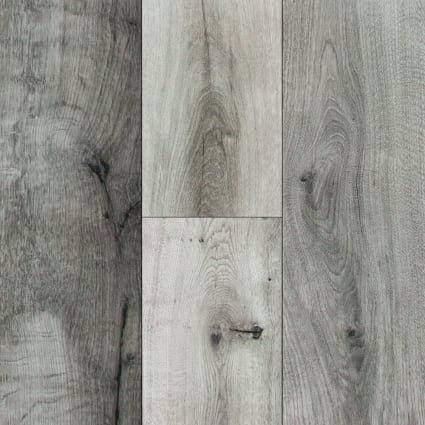 10mm Stockholm Silver Oak High Gloss Laminate Flooring 6.26 in. Wide x 54.45 in. Long