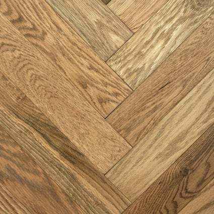 3/4 in. x 5 in. Westerly Oak Distressed Herringbone Solid Hardwood Flooring