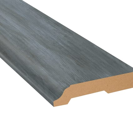 Paris Blue Pine Vinyl 3.25 in wide x 7.5 ft Length Baseboard