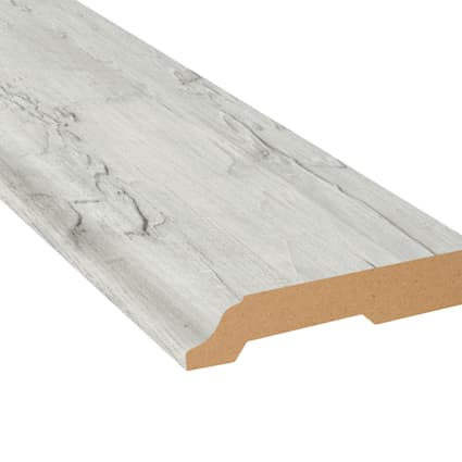 New Point Coastal Pine Vinyl 3.25 in wide x 7.5 ft Length Baseboard