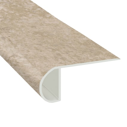 Colosseum Travertine Vinyl Waterproof 2.25 in wide x 7.5 ft Length Low Profile Stair Nose