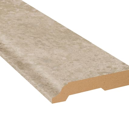 Colosseum Travertine Vinyl 3.25 in wide x 7.5 ft Length Baseboard