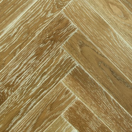 3/4 in. x 5 in. Woodbury Oak Distressed Herringbone Solid Hardwood Flooring