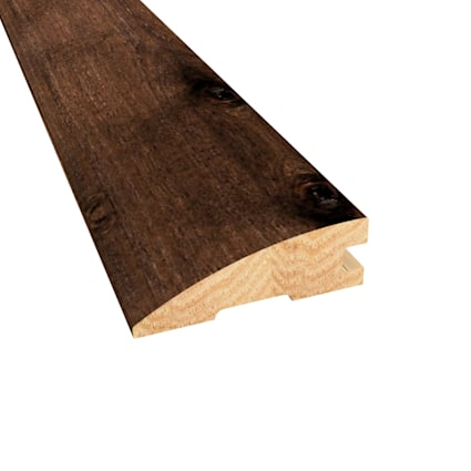 Prefinished Distressed Hunters Creek Hickory Hardwood 3/4 in thick x 2.25 in wide x 78 in Length Red