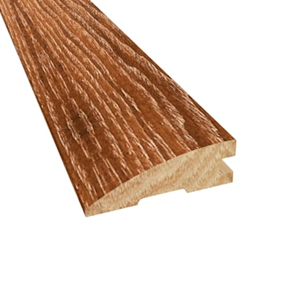 Prefinished Distressed North Hampton Hickory Hardwood 3/4 in thick x 2.25 in wide x 78 in Length Red