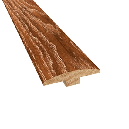 Prefinished Distressed North Hampton Hickory Hardwood 1/4 in thick x 2 in wide x 78 in Length T-Mold