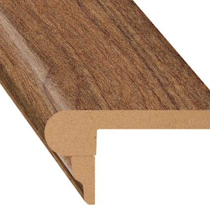 Honey Walnut Laminate 2.3 in wide x 7.5 ft Length Flush Stair Nose