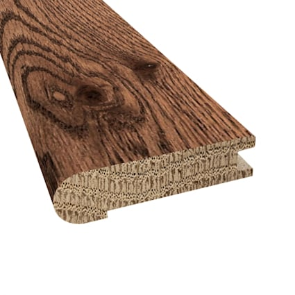 Prefinished Distressed Kingston Oak Hardwood 3/4 in thick x 3.125 in wide x 78 in Length Stair Nose