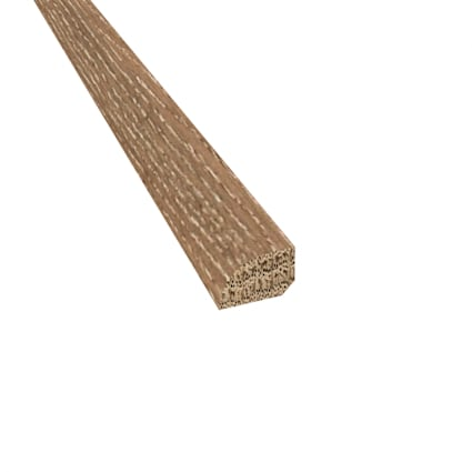 Prefinished Distressed Tangier Oak Hardwood 1/2 in thick x .75 in wide x 78 in Length Shoe Molding