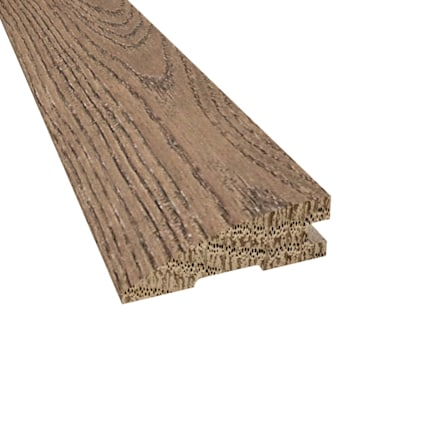 Prefinished Distressed Weatherly Oak Hardwood 3/4 in thick x 2.25 in wide x 78 in Length Reducer