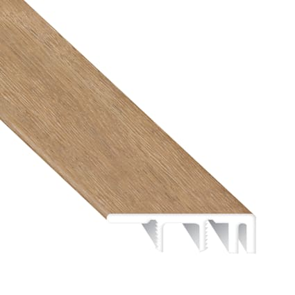 Park Ave Chevron Laminate Waterproof 1.374 in wide x 7.5 ft Length Low Profile End Cap