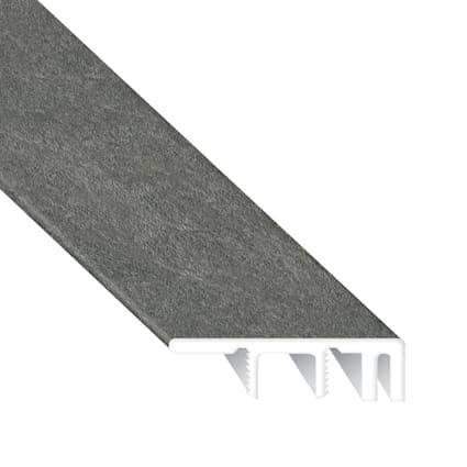 Burgess Gray Brick Laminate Waterproof 1.374 in wide x 7.5 ft Length Low Profile End Cap