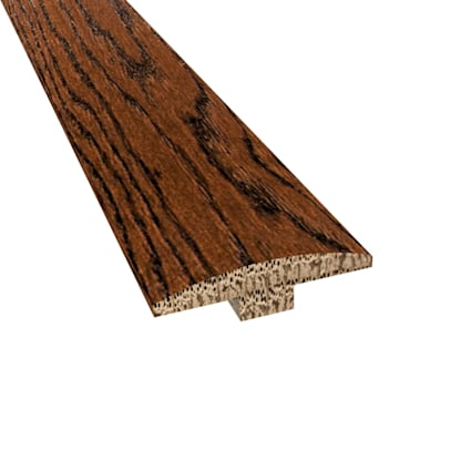 Prefinished Distressed Kensington Oak Hardwood 1/4 in thick x 2 in wide x 78 in Length T-Molding