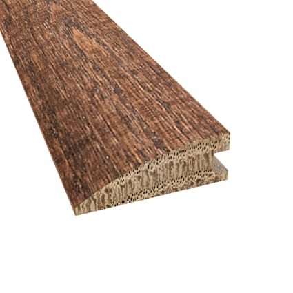Prefinished Distressed Pelham Oak Hardwood 3/4 in thick x 2.25 in wide x 78 in Length Reducer