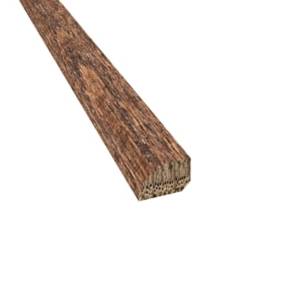 Prefinished Distressed Pelham Oak Hardwood 1/2 in thick x .75 in wide x 78 in Length Shoe Molding