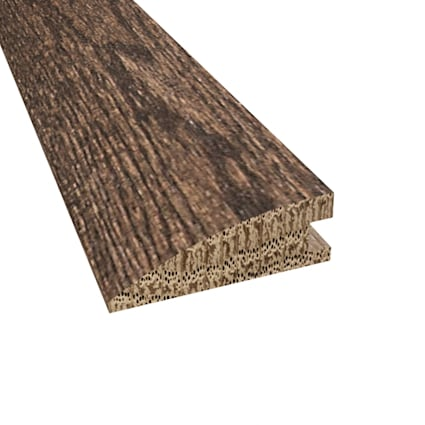 Prefinished Distressed Coggeshall Oak Hardwood 3/4 in thick x 2.25 in wide x 78 in Length Reducer
