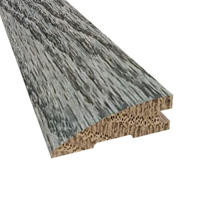 Prefinished Slate Oak Hardwood 3/4 in thick x 2.25 in wide x 78 in Length Reducer