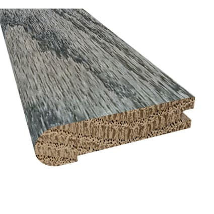 Prefinished Slate Oak Hardwood 3/4 in thick x 3.125 in wide x 78 in Length Stair Nose