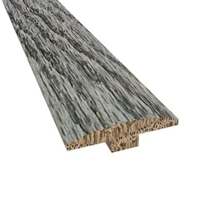 Prefinished Slate Oak Hardwood 1/4 in thick x 2 in wide x 78 in Length T-Molding
