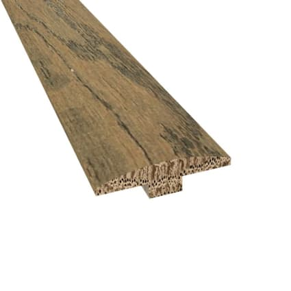 Prefinished Distressed Greenwich Oak Hardwood 1/4 in thick x 2 in wide x 78 in Length T-Molding