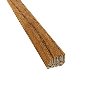 Prefinished Distressed Westport Oak Hardwood 1/2 in thick x .75 in wide x 78 in Length Shoe Molding