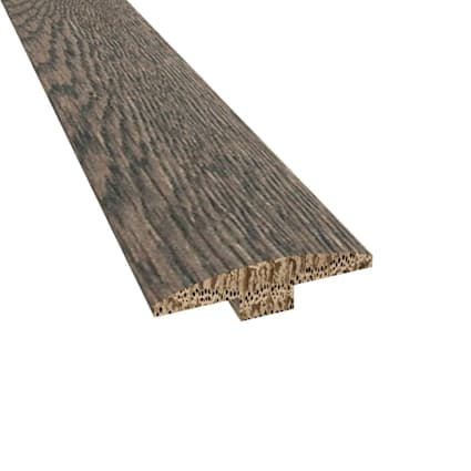 Prefinished Distressed Colchester Oak Hardwood 1/4 in thick x 2 in wide x 78 in Length T-Molding
