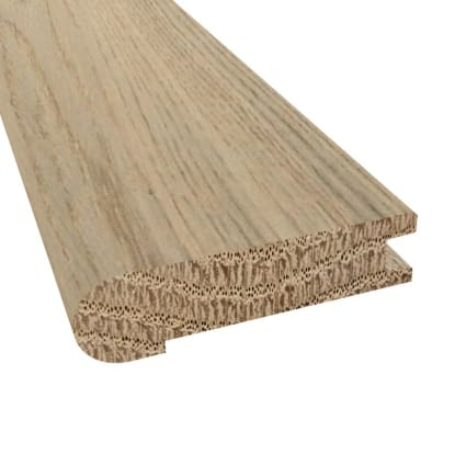 Prefinished Distressed Fairhaven Oak Hardwood 3/4 in thick x 3.125 in wide x 78 in Length Stair Nose