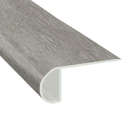 Citadel Gray Oak Vinyl Waterproof 2.25 in wide x 7.5 ft Length Low Profile Stair Nose