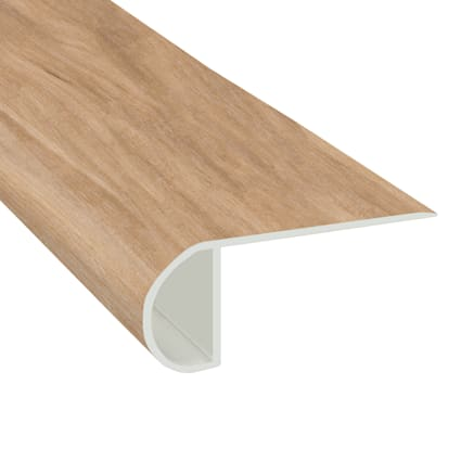 Meribel Elm Vinyl Waterproof 2.25 in wide x 7.5 ft Length Low Profile Stair Nose