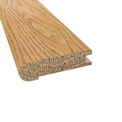 Prefinished Distressed Cheshire Oak Hardwood 3/4 in thick x 3.125 in wide x 78 in Length Stair Nose